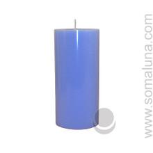 Morning Blue 6.5 x 3 Pillar Candle