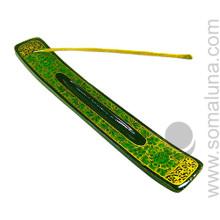 Green Flowers Stick Incense Burner
