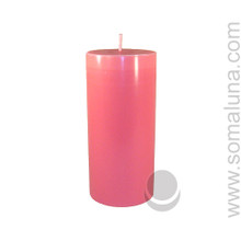 Lotus Pink 6.5 x 3 Pillar Candle
