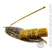 Metal Leaf Incense & Smudge Holder