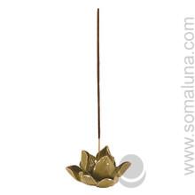 Lotus Flower Incense Burner, Green