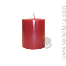 Romance Red 3.5 x 3 Pillar Candle