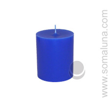 Lapis Blue 3.5 x 3 Pillar Candle