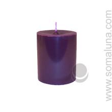 Velvet Eggplant 3.5 x 3 Pillar Candle