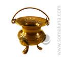 Celtic Brass Cauldron, 2.25 inch
