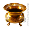 Celtic Brass Cauldron, 4 inches