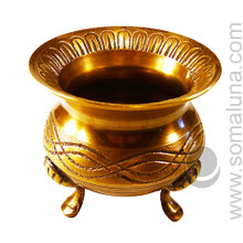 Celtic Brass Cauldron, 4 inches