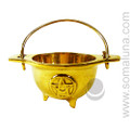 Brass Pentacle Cauldron