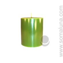 Springtime Green 3.5 x 3 Pillar Candle