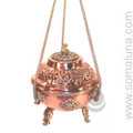 Ornate Hanging Copper Incense Burner