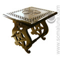 Large Elegant Pentacle Carved Altar Table