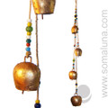 """Mongolian Copper Bells with Beads 33"""""""