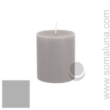 Silver Gray 3.5 x 3 Pillar Candle