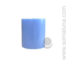 Morning Blue 3.5 x 3 Pillar Candle