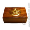 Brass Pentacle Box, small