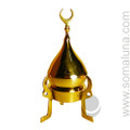 Brass Tripod Mosque Charcoal Incense Burner