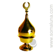 Brass Pedestal Mosque Charcoal Incense Burner