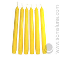 Summer Yellow 10 inch Taper Candle