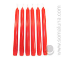 Romance Red 10 inch Taper Candle