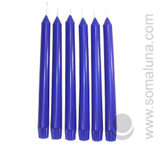 Lapis Blue 10 inch Taper Candle