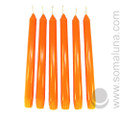 Mandarin Orange 10 inch Taper Candle
