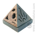 Celestial Pyramid Soapstone Incense Cone Burner
