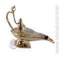 Brass Etched Aladdin Lamp Cone Incense Burner