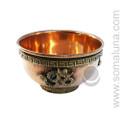 Om Copper Offering Bowl