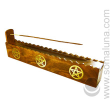 Three Brass Pentacles Box Incense  Burner