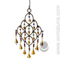 Iron 16 Bell Wind Chime with Beads