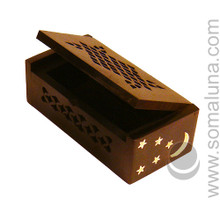 Moon & Stars Rosewood Box for Amber