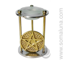 Brass Pentacle Aroma Lamp