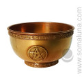 Pentacle Copper Offering Bowl, medium