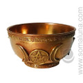 Triple Goddess Copper Offering Bowl, medium
