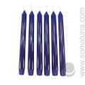 Midnight Blue 10 inch Taper Candle