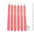 Lotus Pink 10 inch Taper Candle