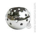 Silver Stars Votive Candle Holder