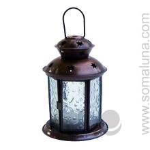 Bronze Star Lantern Tealite Candle Holder