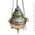 Large Hanging Brass and Copper Incense Burner