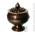 Tibetan Om Mani Incense Burner