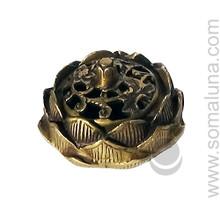 Brass Tibetan Lotus Incense Burner