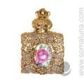 Rose Medallion Perfume Bottle