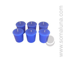 Lapis Blue Votive Candle