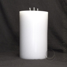 Angel White 9.5 x 6 Pillar Candle 3-wick