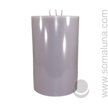 Silver Gray 9.5 x 6 Pillar Candle 3-wick