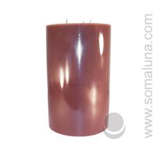 Autumn Brown 9.5 x 6 Pillar Candle 3-wick