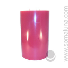 Country Mauve 9.5 x 6 Pillar Candle 3-wick