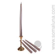 Metallic Silver 12 inch Taper Candle