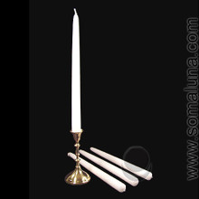 White 12 inch Taper Candle
