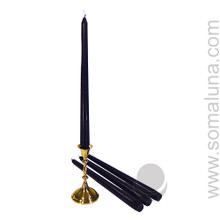 Blue-Black 12 inch Taper Candle